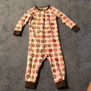 Carter's Girl's footless sleeper-hearts and dots